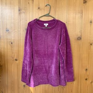 new style & co soft pink velvet sweater 🍥 size XL